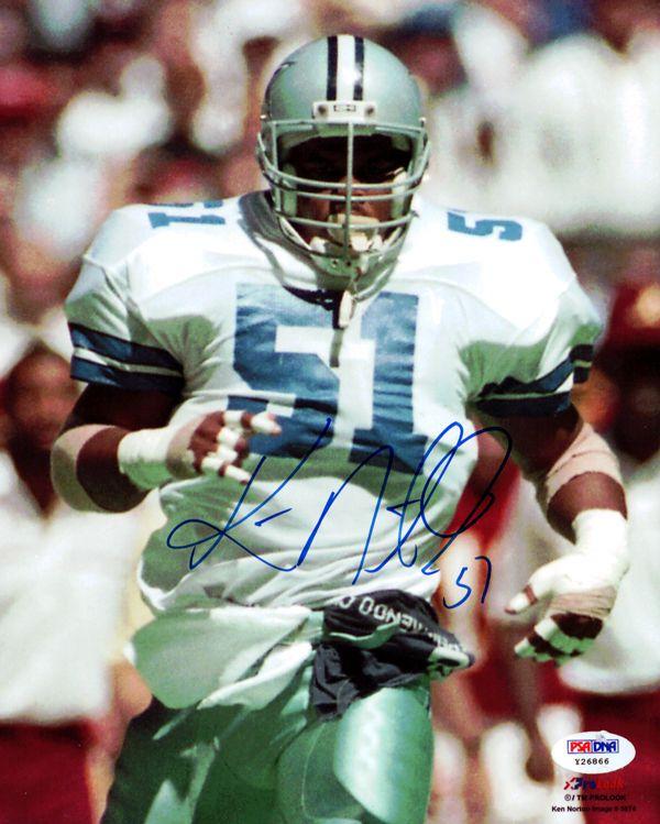 Ken Norton Autographed 8x10 Photo Dallas Cowboys PSA/DNA