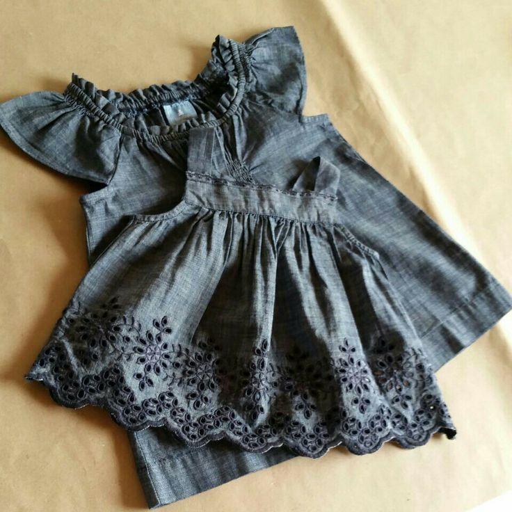 #fzonestyle  Ref. Vestido Denim. Edad: 6-12 meses y 3 años. Valor: $46,000 (COP) Y $50,000 (COP)
