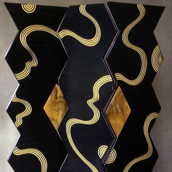 Grant Noren Kyoto Folding Room Divider Screen, Artistic Artisan Designer  Folding Screens