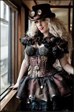 Steampunk   Fashion ✿ Rayvin Nyte ✿ Enchanting & Enhancing Your Life!  www.MagicallyManifestMoney.com