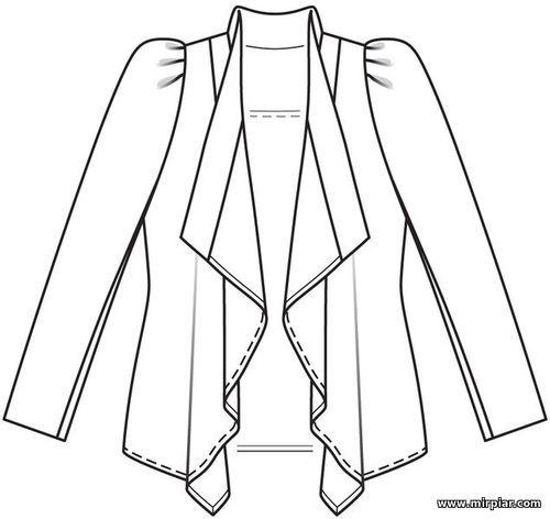 Выкройки женской одежды огромных размеров в натуральную величину
