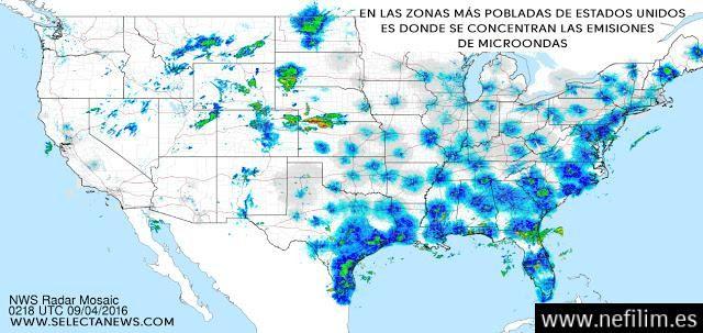 Aparecen en radares meteorológicos estadounidenses ondas de procedencia desconocida