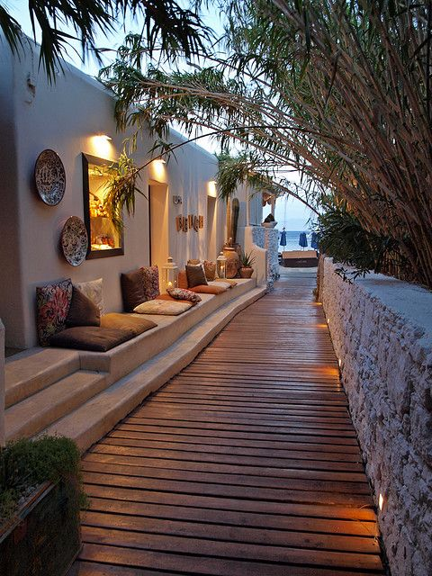 Mykonos - I walked this pathway everyday to reach the beach. Magical!!