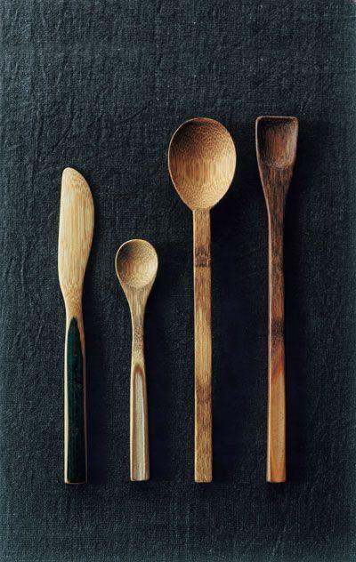 Bamboo cutlery by SHIMOMOTO Kazuho, Japan 下本一歩