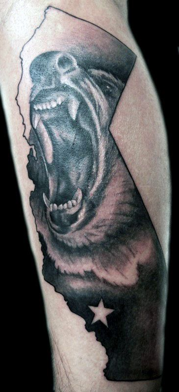 40 best california state bear tattoo images on pinterest for California bear tattoos