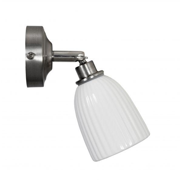 Garden Trading Alma Bathroom Spotlight Ceramic - Satin Nickel
