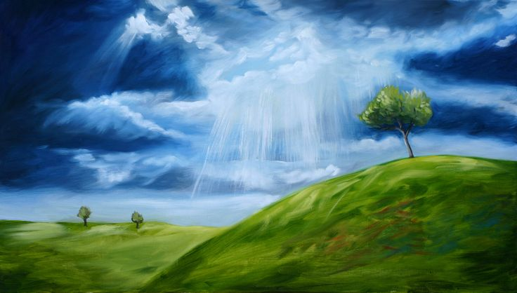 The light before the Storm - Oil painting by Julie Sneeden