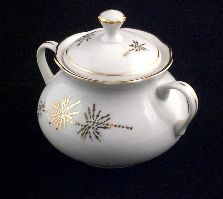 Vintage BOHEMIA Ceramic Works China Porcelain Sugar Bowl 1922-1945. On isradeal.com the shipping is always ZERO.