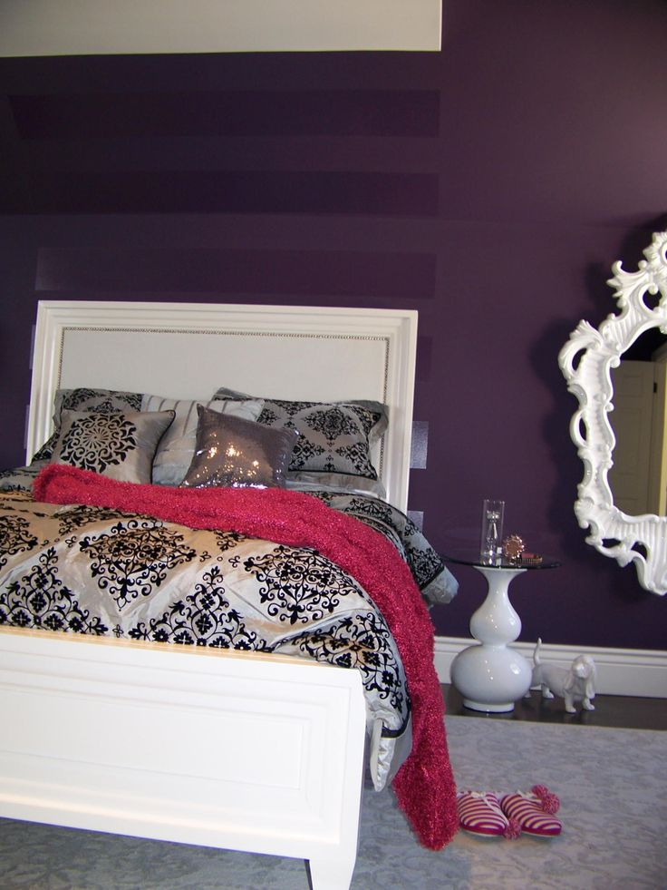 Teenager rooms teenager dream room house pinterest nice deep purple and colors - Teenager nice bedroom ...