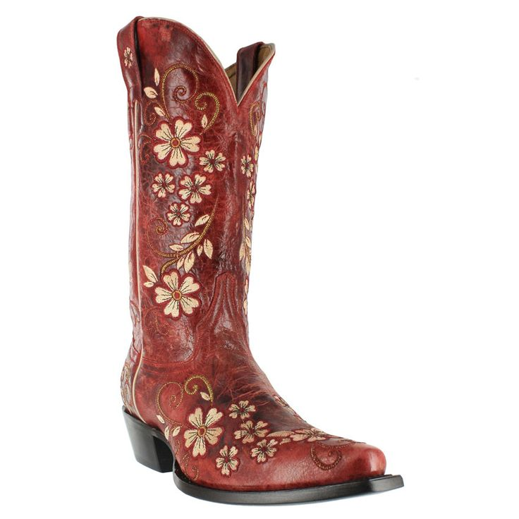 "Shyanne® Women's 12"" Embroidered Clover Flower Western Boots @bootbarn I'd love a pair of @Ariat Boots for Christmas this year! #pin2win www.pinterest.com/bootbarn"