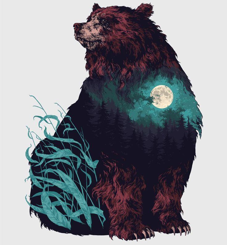 Art, Bear Drawing, Bear Art