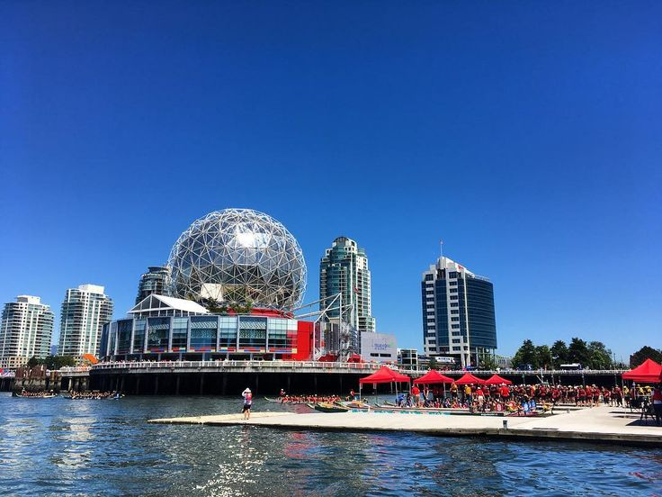 Get down to the dragon boat races this weekend in Olympic village! Our guests had an awesome time cheering on some local teams. #samesunvancouver #hosteltours #granvilleisland #falsecreek #olympicvillage #dragonboatfestival