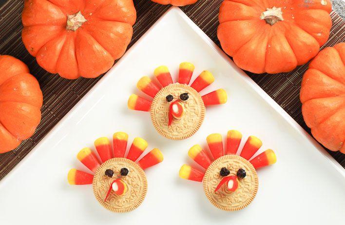 Kids Recipe: Crazy Easy Thanksgiving Turkey Cookie Dessert
