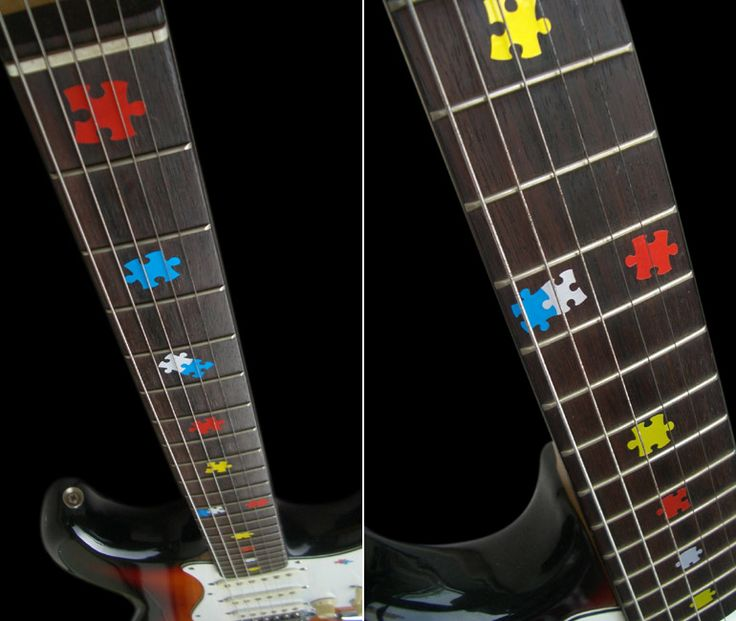 jigsaw puzzle inlay fret guitar