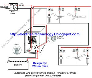 The 25 best electrical circuit diagram ideas on pinterest automatic ups system wiring circuit diagram for home or office new design with one live cheapraybanclubmaster Gallery