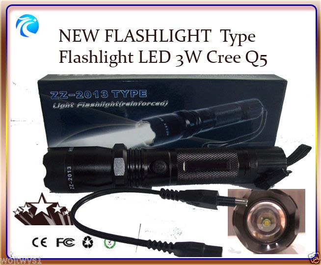 Light Flashlight TYPE  Flashlight LED 3W Cree Q5.NEW