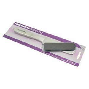 Tweezerman Professional Infinity Callus Rasp (With 6 Replacement Files) - - by Tweezerman. $25.27. An innovative tool for minimizing calluses & sleeking skin Offers superior quality & sanitation With a specially designed handle for exceptional comfort & control Boasts a thin filing area making it flexible for use on different areas of feet & between toes The stainless steel handle can be sterilized after removal of filing pads Features filing pads with two different gr...