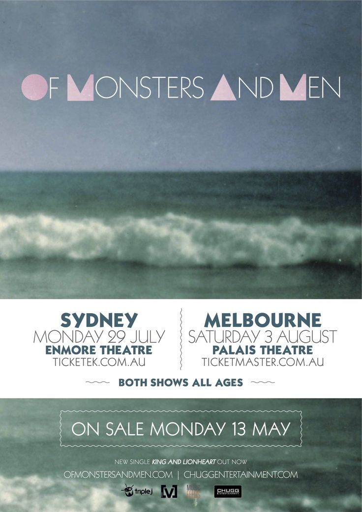 Of Monsters and Men - Touring July/August 2013