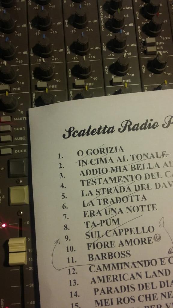 la scaletta del live di stasera all'auditorium di @radiopopmilano.