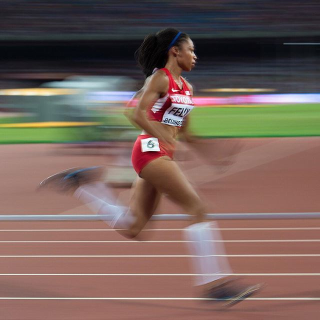 The 400m is not an event that comes easy to me. - @af85  It didnt come easy but she did it anyway.  There was no trouble with the curves. No stumbling out of the blocks. And no holding back. In just 49.26 seconds she left Beijing with her 14th world title.  It was her first in the 400m. #sofast by nikerunning