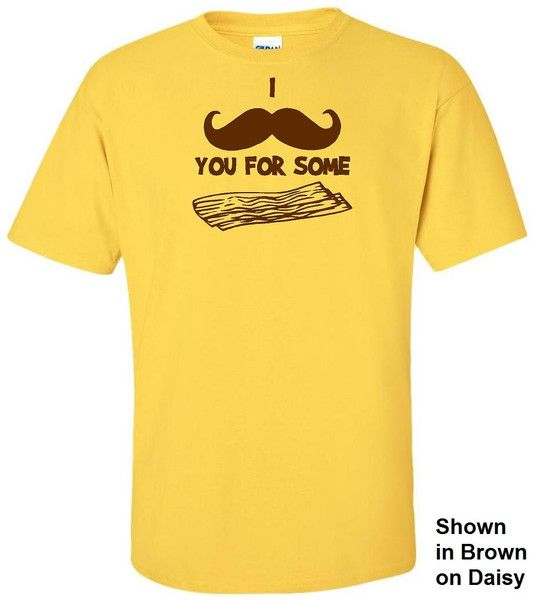 I Mustache You For Some Bacon Tee #funny