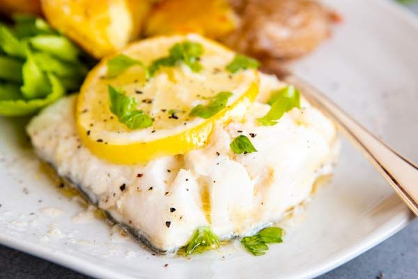 Garlic Butter Lemon Baked Cod Includes Video Instructions In 2020 Lemon Baked Cod Easy Fish Recipes Cod Recipes