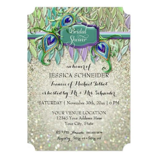 68 best PEACOCK FEATHERS WEDDING Invitations images on Pinterest