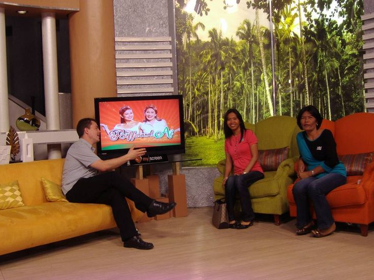 Interviewing my wife and mother in law on the set of Ruffa and Ai,ABS-CBN studios,Manila,Philippines