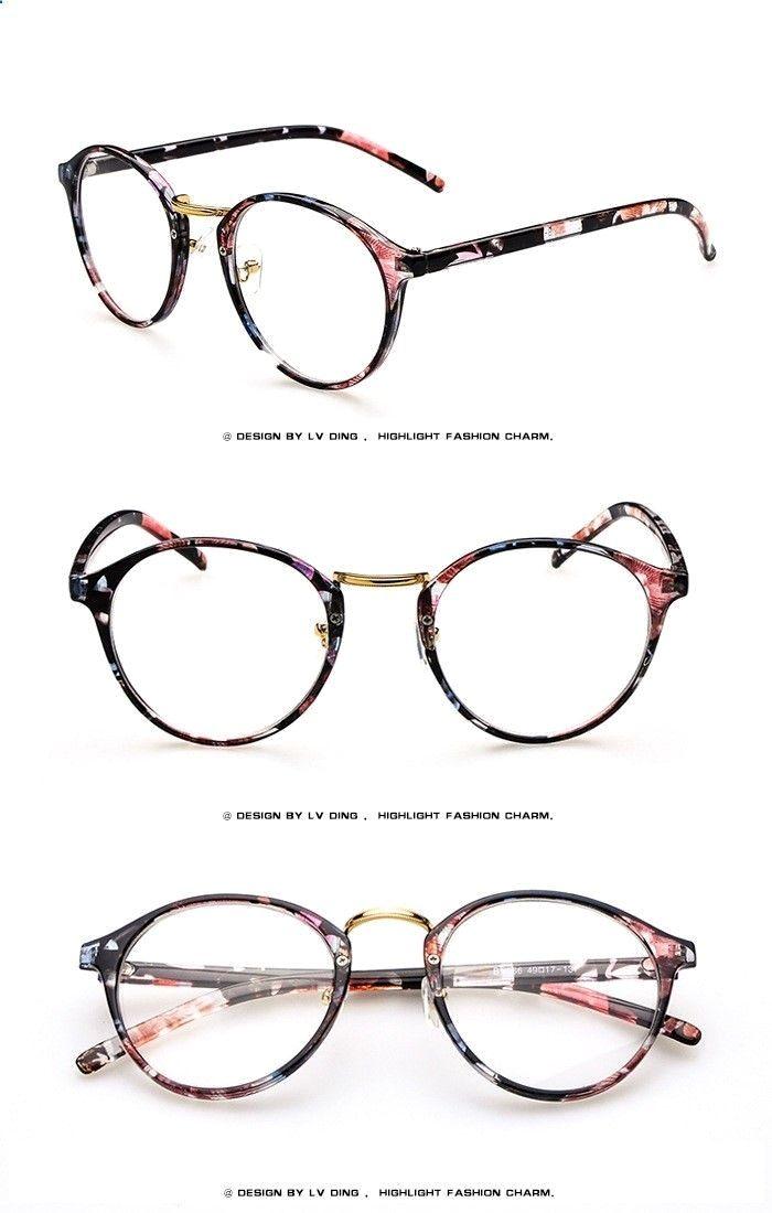 732fb4a393 Pink floral prescription glasses frame black floral eyewear for women women  spectacles frame for Myopia Online sale -in Eyewear Frames from Women s  Clothing ...