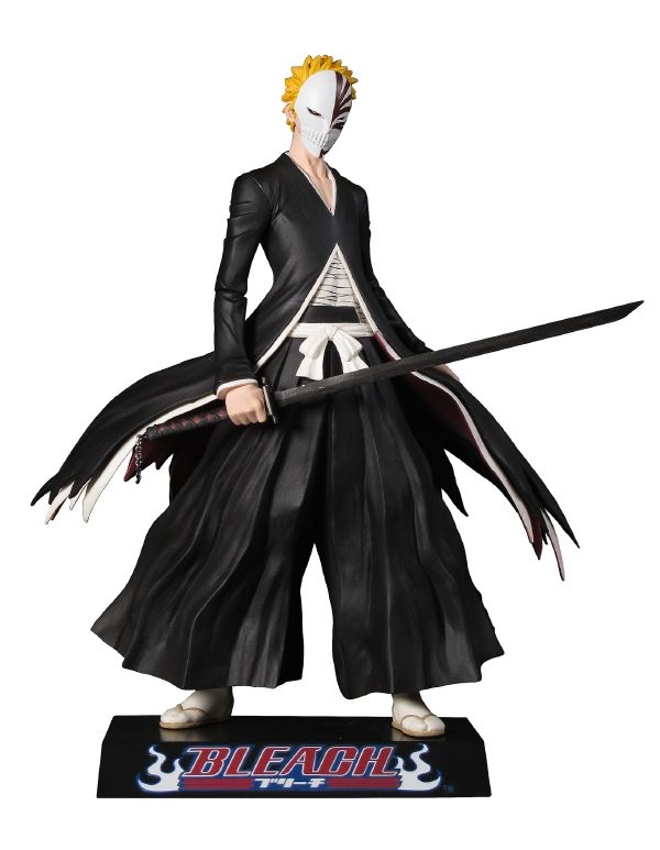 Kirin Hobby : Bleach: Ichigo with Bankai Mask Deluxe Figure by Toynami 816355007911