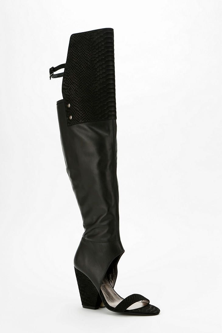Tony Bianco Thigh-high peep-toe boots | Fall / autumn return ...
