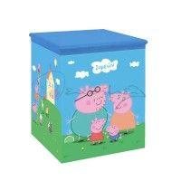 Ξύλινο κουτί για μαρτυρικά με την αγαπημένη μας Πέππα με το όνομα του παιδιού σας μέσα σε σύννεφο.  #kouti_martyrikon_peppa