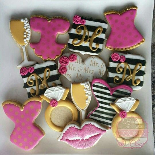 Kate Spade inspired Bridal Shower Cookies