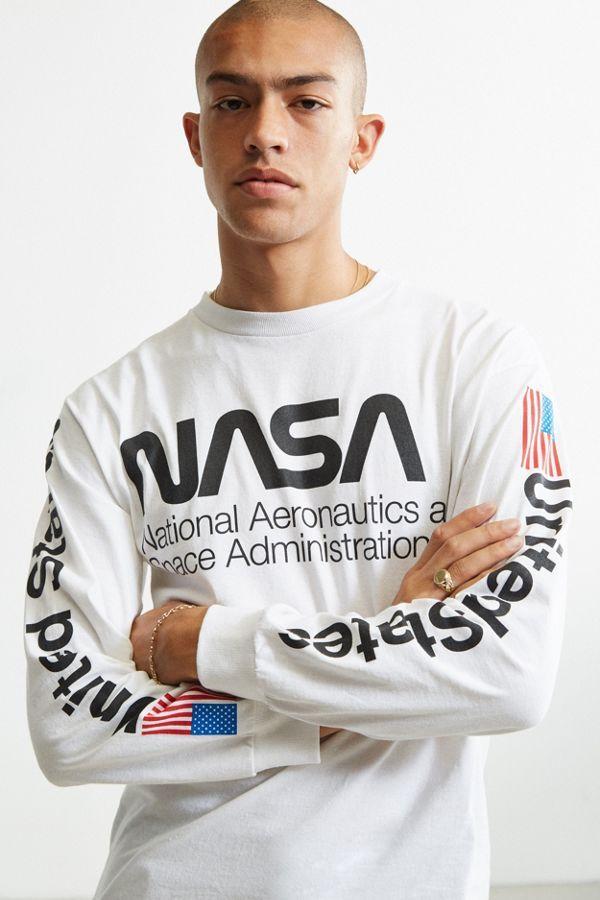 Slide View  2  NASA Worm Logo Long Sleeve Tee  b27e54fc3353