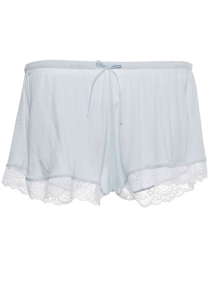These beautiful shorts from Eberjey are made from the softest blue jersey with a pretty white scallop lace edging and front satin bow. The perfect gift for every summer bride and a little something blue for the wedding trousseau. A graceful, feminine and sexy addition to her wedding day that's guaranteed to be a favourite on the honeymoon and beyond. The short and matching cami are ideal for lounging in the honeymoon suite or getting your beauty rest once you've settled into married life
