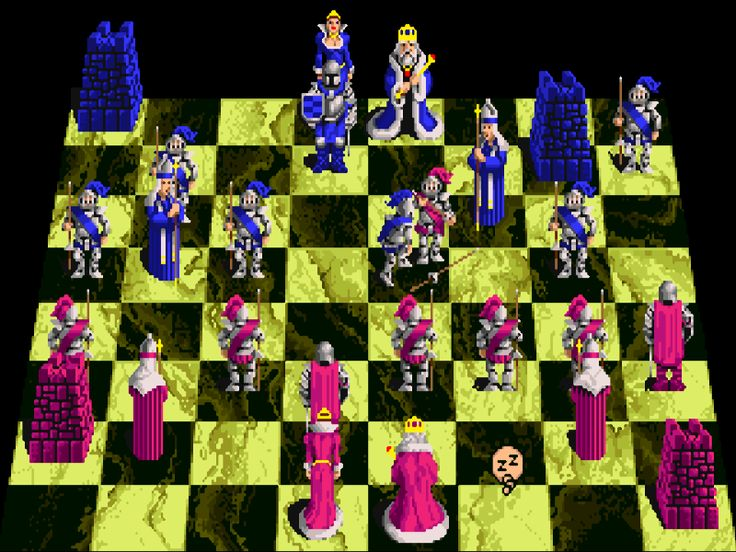 Battle Chess. A relatively early game for the Commodore