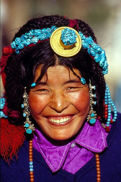 Tibetan woman in Lhasa