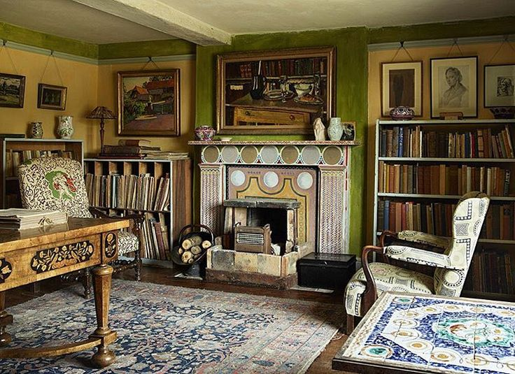 The study at Charleston Firle East Sussex the country home of artists Vanessa Bell & Duncan Grant