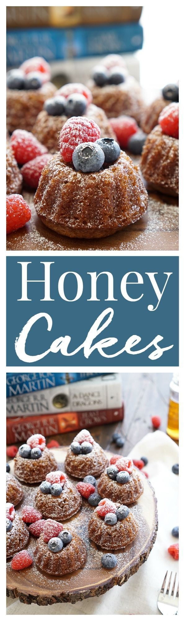 This Game of Thrones Honey Cake recipe can be made up ahead of time and is loaded with comforting flavors like honey, cinnamon, and nutmeg and laced with coffee, orange juice, and bourbon.