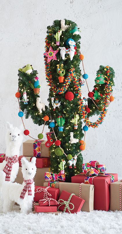 making it merry cactus christmas tree by raz imports fall winter 2018 christmas trees pinterest christmas christmas decorations and christmas tree