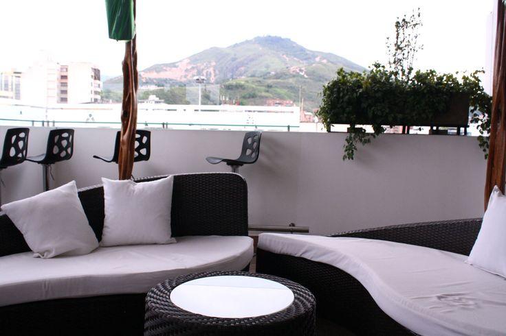 Paisaje y tranquilidad, desde el Terraza Travel Bar, del Hotel San Antonio Plaza