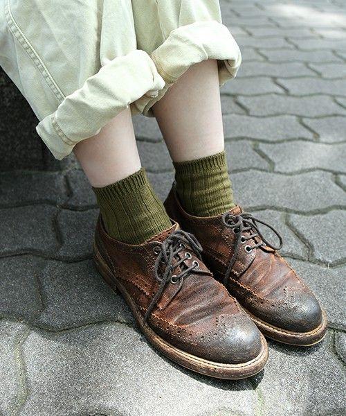 靴下屋(クツシタヤ)の【WOMEN】◆FUDGE 6月号掲載◆太リブ ショートソックス(ソックス/靴下)|詳細画像