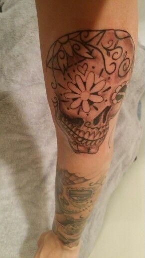 sleeve in progress