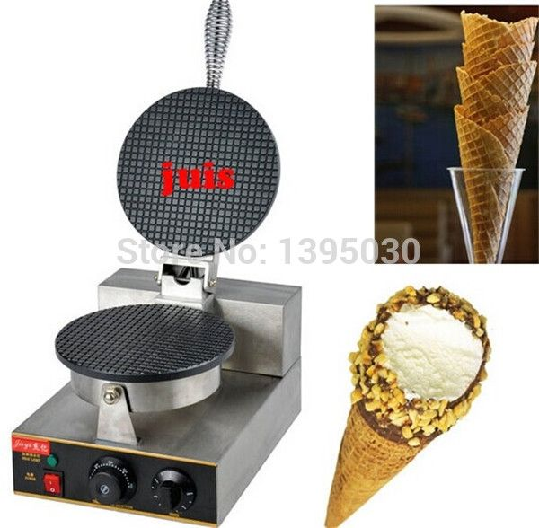 129.48$  Buy now - http://aliz99.worldwells.pw/go.php?t=32599522166 - Electric Ice Cream Waffler Cone Bake Maker 220V pancake maker