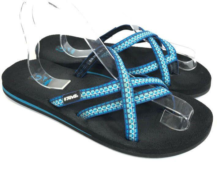 meet e8489 2c953 Teva Olowahu Mush Womens Sandals Blue Size 8 Flip Flop ...
