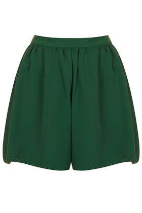 Forest Green Culotte Shorts - Shorts  - Clothing