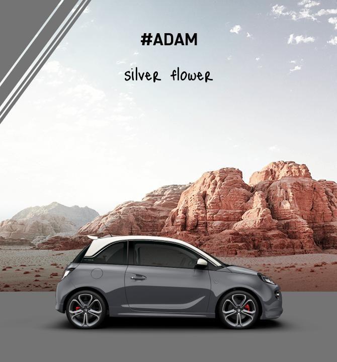 Opel Adam silver flower