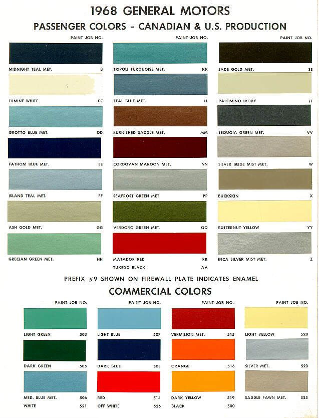 161 best paint images on Pinterest Car, Cars and Flowers - sample general color chart