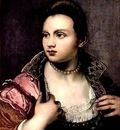 Self portrait of the Venetian painter Marietta Robusti (1560-1590) Italy - Realism