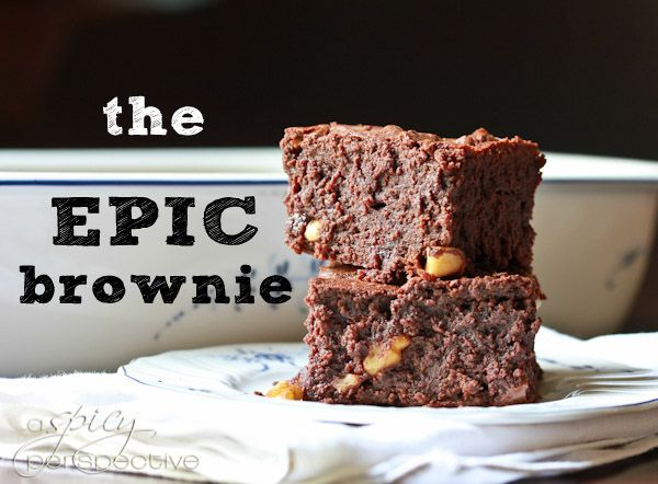 "The-Epic-Brownie: Blogger says, ""A discretely-caramel brownie that is timeless, unforgettable, an immediate classic.  When you take your first bite, you will hear Celine Dion bellowing ""My Heart Will Go On"" and a bare-chested Gerard Butler will burst out of a cloud of murky haze, sword in tow.  I swear.""    Sounds like a risk I'm willing to take =)"